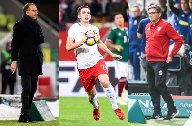 Czy mecz Lechia Gdańsk - Piast Gliwice rozstrzygną napastnicy. Piotr Stokowiec (z lewej) twierdzi, że ma napastnika o podobnych atutach jak Jakub Świerczok, którym dysponuje Waldemar Fornalik (z prawej).