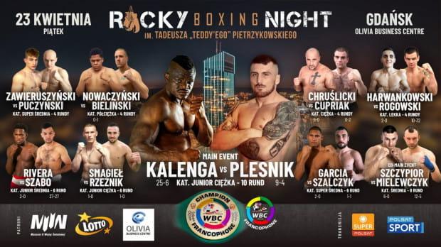Rocky Boxing Night - zestaw walk, w których zaprezentuje się m.in. trzech pięściarzy z Trójmiasta.