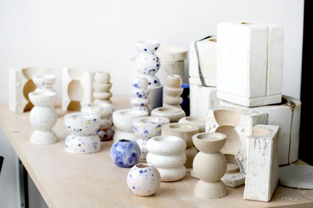 """Wcześniejsze projekty Mozi - ceramika wykonana na podstawie druku 3D. Przy użyciu tej samej technologii powstaną prace w ramach projektu """"Glëna""""."""