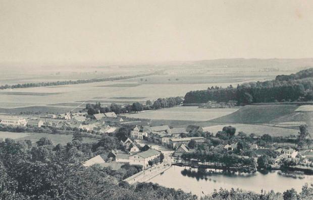 Panorama Oliwy na zdjęciu Wilhelma Dreesena z 1893 r.