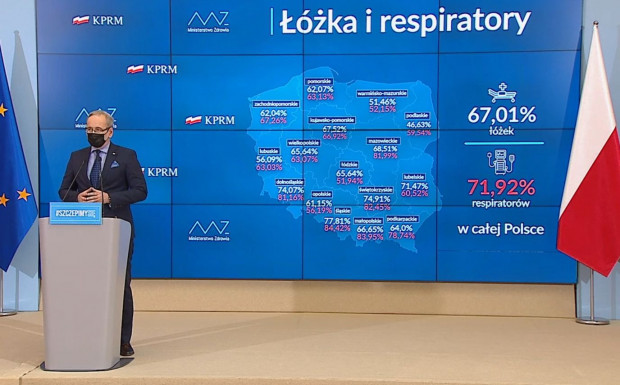 Apogeum zakażeń i hospitalizacji mamy już za sobą, ale one wciąż są na bardzo wysokim poziomie - mówi minister zdrowia Adam Niedzielski.