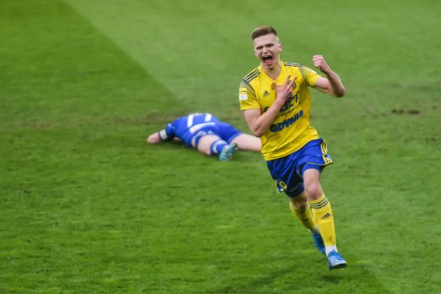 Tak cieszył się Maciej Rosołek po golu dla Arki Gdynia. By cała drużyna mogła się radować ze zwycięstwa nad Bruk-Betem Termaliką Nieciecza zabrakło... sekundy.