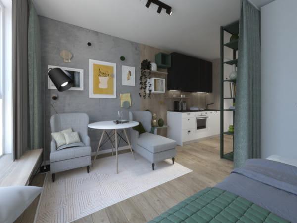 Przykładowy wygląd mieszkania w budynku na wynajem przy al. Rzeczypospolitej.