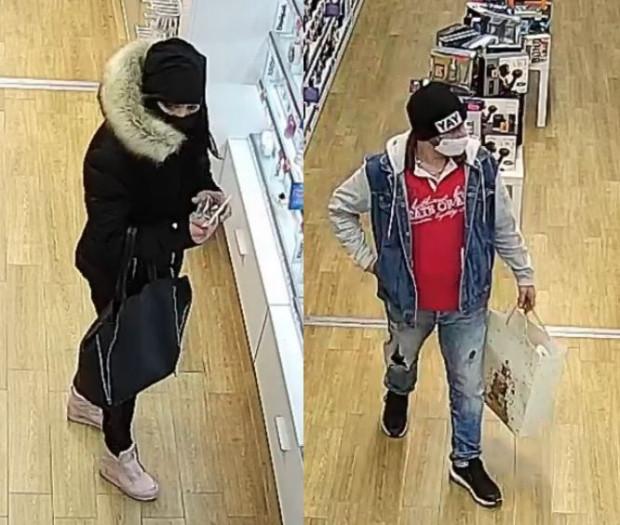Kobieta i mężczyzna poszukiwani w związku z kradzieżą perfum.