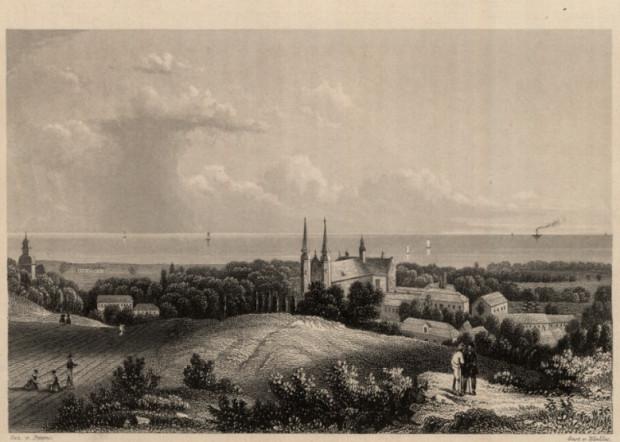 Oliwa na grafice z XIX wieku.