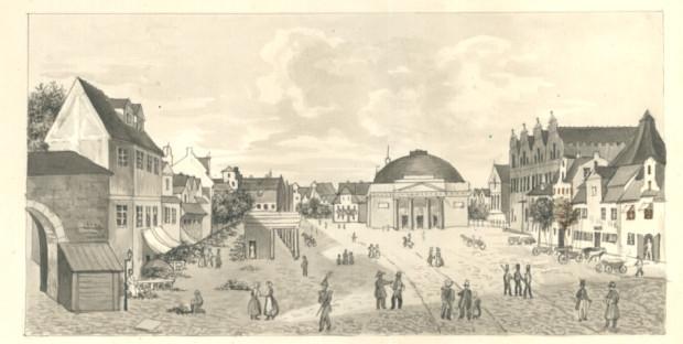 Targ Węglowy w XIX wieku. Źródło: portal Polona.