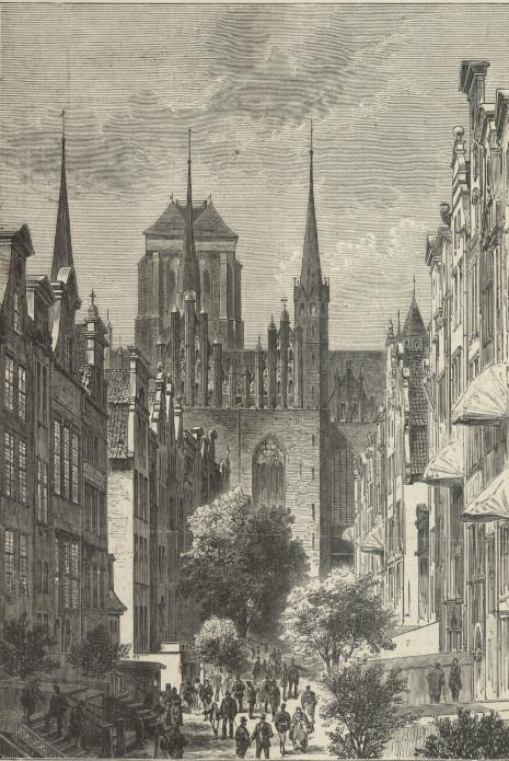 Ulica Mariacka w XIX wieku. Żródło: portal Polona.