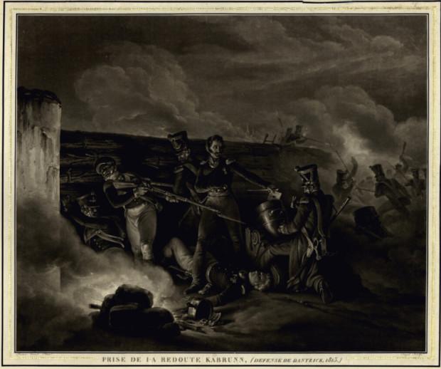 Walki o Gdańsk w 1813. Źródło: portal Polona.