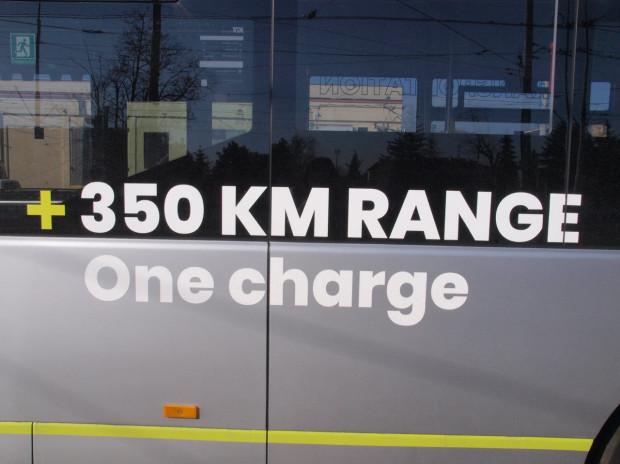 Na jednym ładowaniu autobus jest w stanie przejechać nawet 350 km.