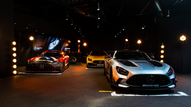 Od lewej: Mercedes-AMG GT3, Mercedes-AMG GT R Pro, Mercedes-AMG GT Black Series.