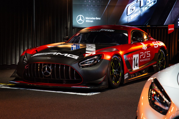 Wyczynowy Mercedes-AMG GT3 w Gdańsku. Auto kosztuje ponad 400 tys. euro.