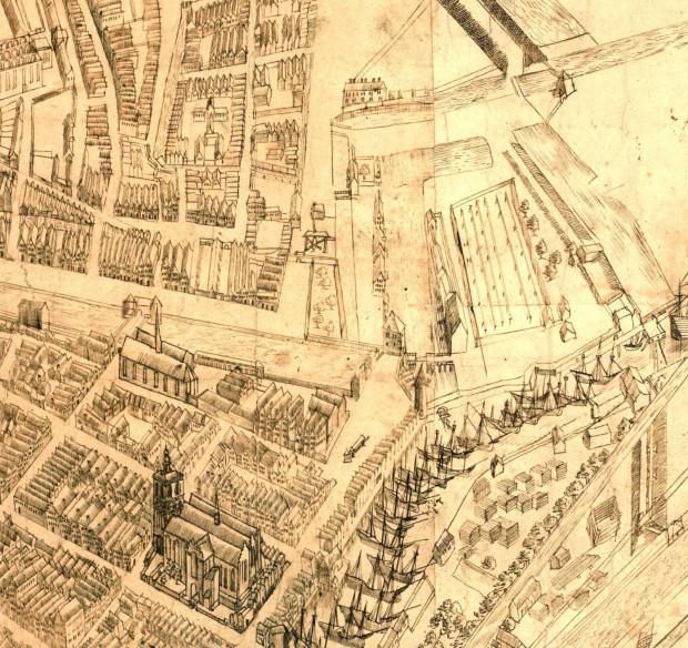 Przedstawiający Zamczysko fragment tzw. widoku sztokholmskiego.