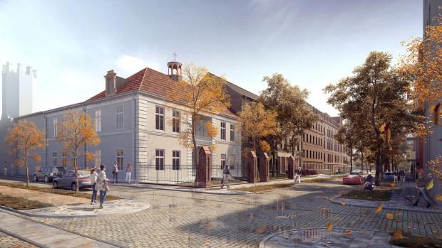 Dwór Uphagena. Gdańsk Dolne Miasto, ul. Kieturakisa 1. Obiekt pierwszych gości przyjmie już latem 2021 roku.