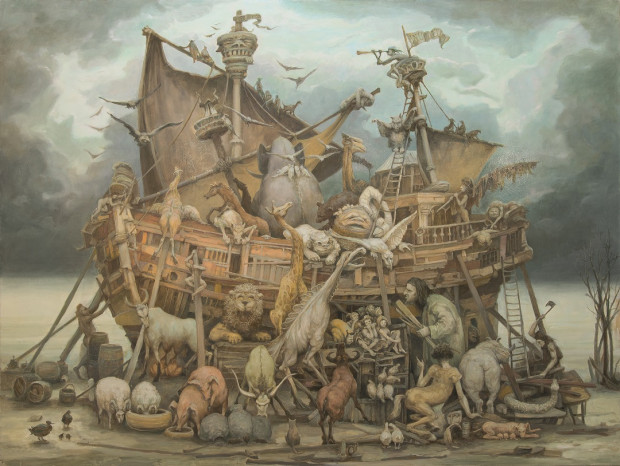 Arka Noaha, obraz Włodzimierza Szpingera.