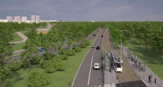 Nowa trasa tramwajowa miałaby być elementem przebudowanej Drogi Zielonej, łączącej Przymorze z al. Hallera.