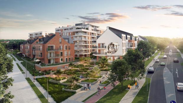 Przez środek osiedla Perspektywa, powstającego u zbiegu ul. Powstańców Warszawskich i Legnickiej w Gdańsku, będzie biegła dostępna dla wszystkich aleja spacerowa.