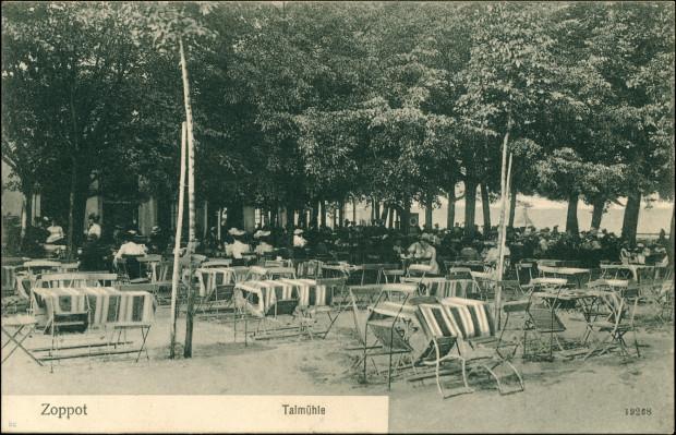 Dolinny Młyn w Sopocie na pocztówce 1906 r.