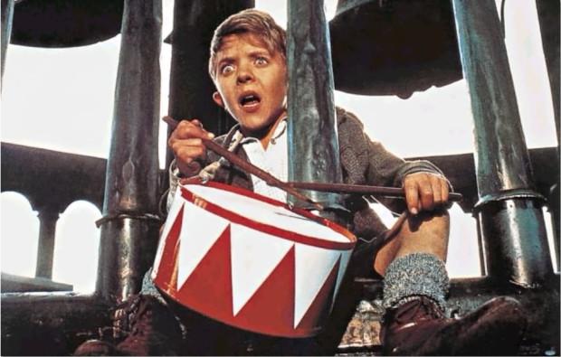 "David Bennent jako Oskar Matzerath w ""Blaszanym bębenku""."