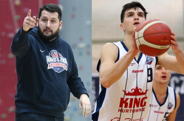Asseco Arka Gdynia zaczęła budowę składu na nowy sezon od zakontraktowania nowego trenera Milosa Mitrovicia (z lewej) i koszykarza Dominiak Wilczka (z prawej).