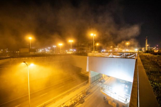 Pył unoszący się w Letnicy spowodowany jest remontem obiektów wchodzących w skład tunelu pod Martwą Wisłą.