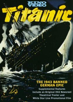 Plakat reklamujący niemiecką wersję zatonięcia Titanica.
