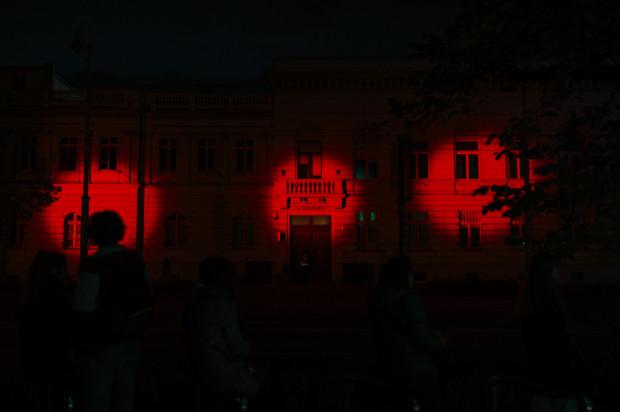 Gmachy inteligencja miasta - była to instalacja dźwiękowo-świetlna.