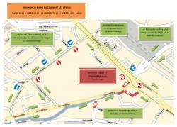 Organizacja ruchu w piątek od godz. 18.30 do 23 oraz w sobotę od 6 do 10.