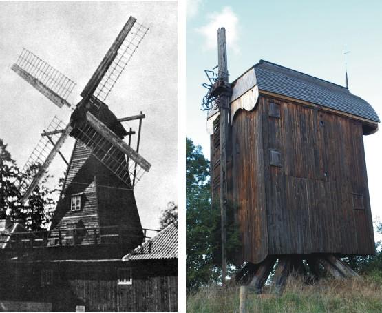 """Niegdyś wizytówkami wsi Drewnicy były dwa wiatraki: tzw. """"holender na budynku"""" oraz """"koźlak"""". Obecnie pozostał jedynie ten drugi pochodzący z 1718 r."""