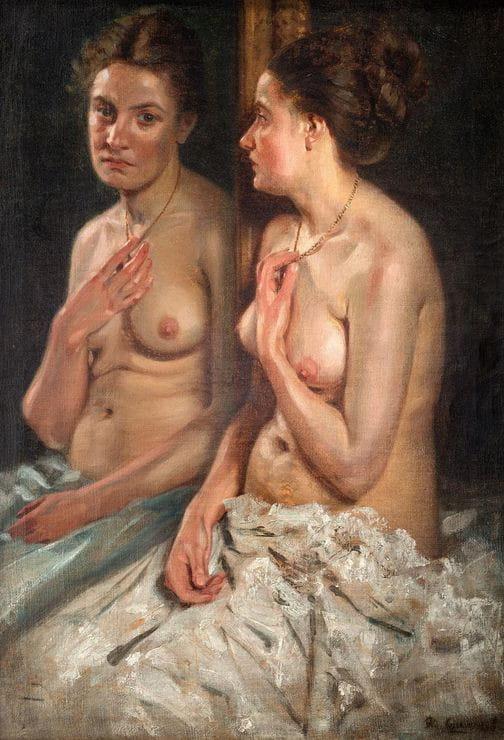 Portret Elisabeth z lustrem, autorstwa Alberta Lipczinskiego, został sprzedany na początku maja za 100 tys. zł podczas licytacji w Sopockim Domu Aukcyjnym.