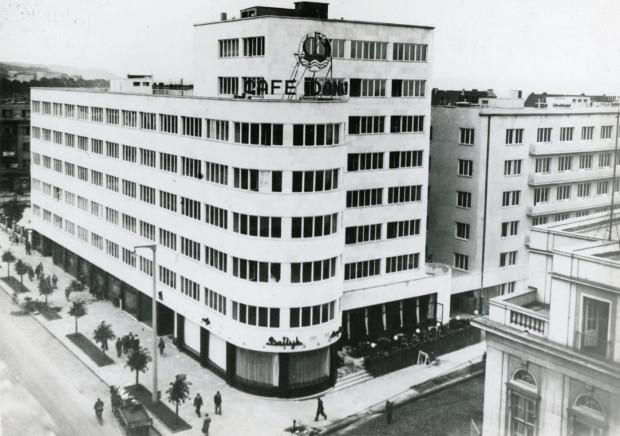Kawiarnia Cafe Bałtyk w budynku ZUS przy ul. 10 Lutego 24, rok 1938.