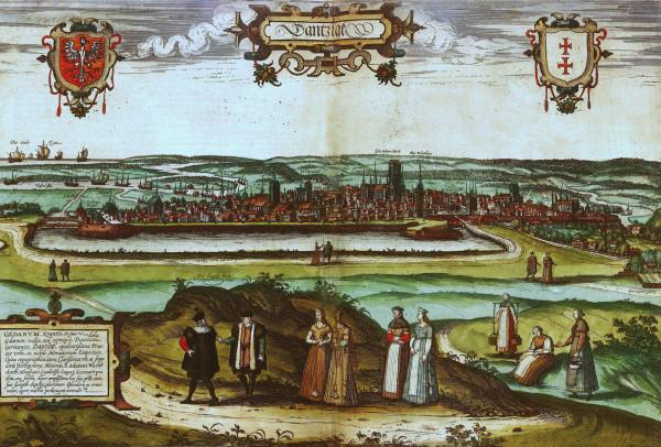 Panorama Gdańska F. Hogenberga z 1575 roku