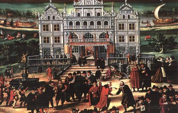 "Fragment obrazu ""Apoteoza Gdańska Isaaka van den Blocka, 1608 r."