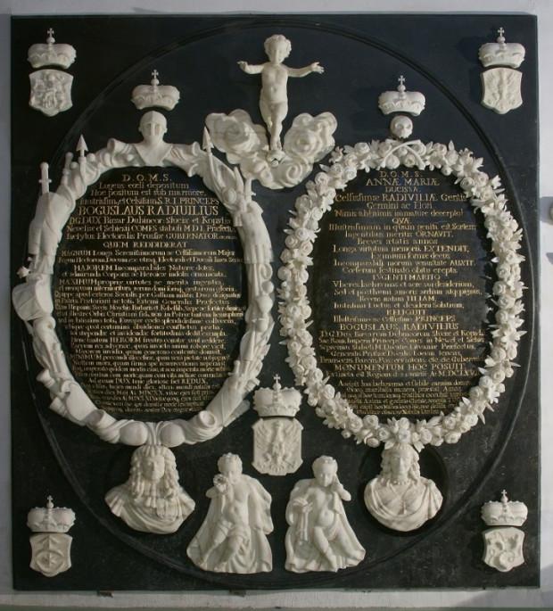 Odnowione Epitafium Bogusława Radziwiłła i jego żony Anny Marii w  katedrze Matki Bożej i św. Wojciecha w Królewcu.