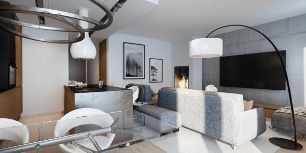 Świetnie zaprojektowane pomieszczenia domu EGO dają duże możliwości aranżacyjne.