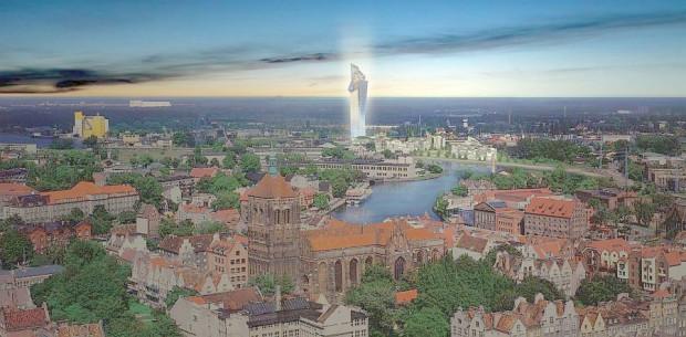 Projekt 190-metrowego wieżowca autorstwa Daniela Libeskinda, który zaprezentowano w 2008 roku.