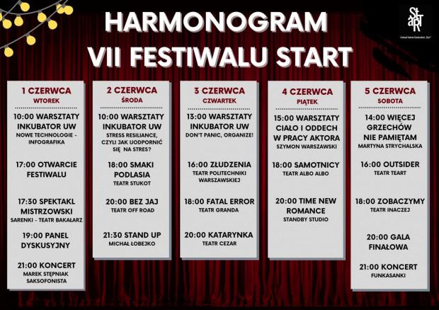 Harmonogram wydarzeń festiwalowych
