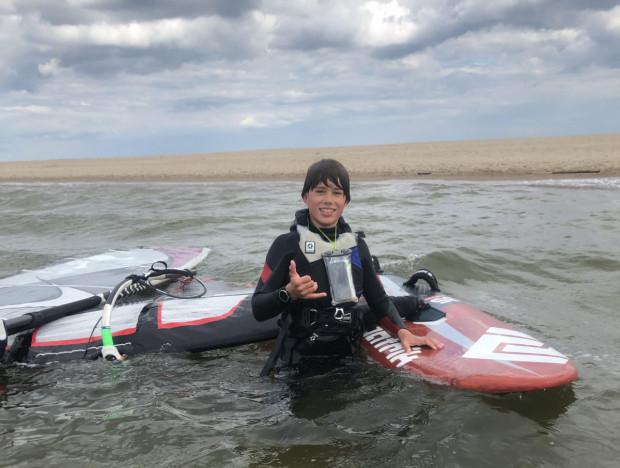 Jan Rodziewicz kocha windsurfing. Cukrzyca jest dla niego utrudnieniem, z którym dzielnie sobie radzi przy wsparciu rodziny.