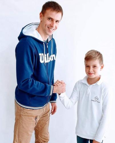 Mariusz Wlazły wraz z synem Arkadiuszem.