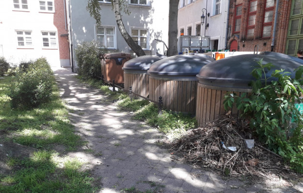 Po naszej interwencji śmieci z ul. Dzianej zostały niezwłocznie posprzątane.