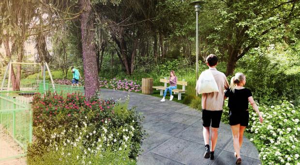 Wśród projektów nie brakuje pomysłów na zazielenienie dzielnic. To jeden z nich: Międzypokoleniowy Park Rekreacji na ul. Stolemów.