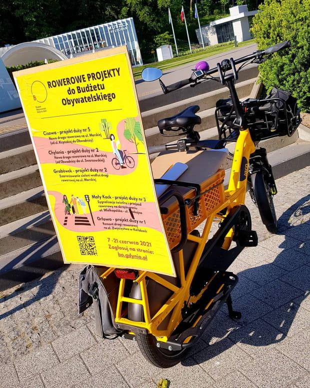 Rower cargo zachęca do głosowania na projekty w BO.