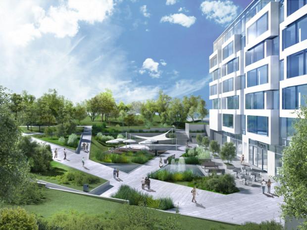 Z biurowca Square będzie można przejść od razu do Parku Centralnego. Prace przy nawierzchni pobliskiego odcinka ul. Partyzantów sfinansuje deweloper AB Inwestor.