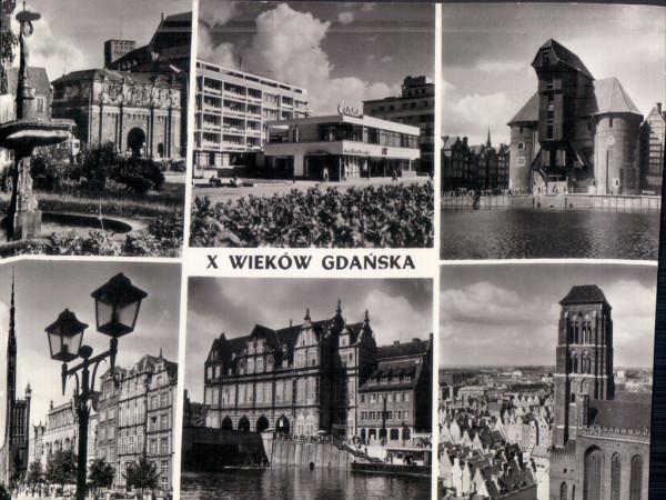 Cristal na pocztówce z ok. 1960 r. wśród ikon przedwojennego Gdańska.