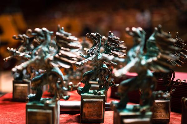 Zwycięzcy otrzymali statuetkę Gryfa Pomorskiego, zaprojektowaną przez Marię Kuczyńską.