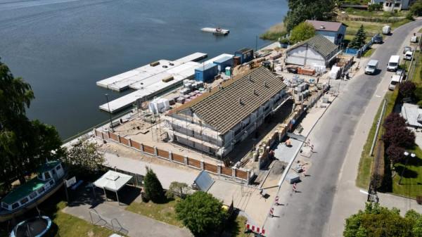 Najnowsze zdjęcia z budowy nowej mariny na Wyspie Sobieszewskiej.