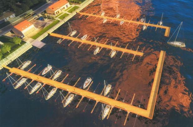 Tak będzie wyglądać nowa marina na Wyspie Sobieszewskiej.