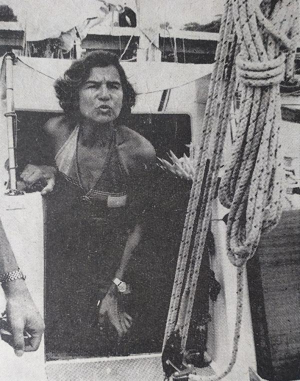 Żeglarka inż. Krystyna Chojnowska-Liskiewicz w 1978 r.