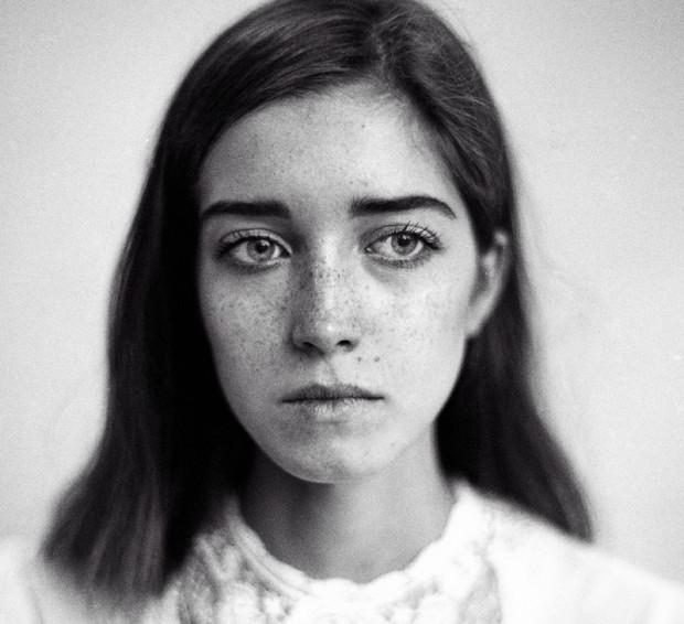 Łucja Stefaniuk, modelka, z którą miłośnicy fotografii analogowej współpracowali w piątkowe popołudnie.