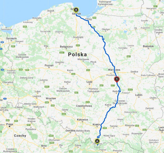 Kolarze zamierzają przejechać ponad 750 km.
