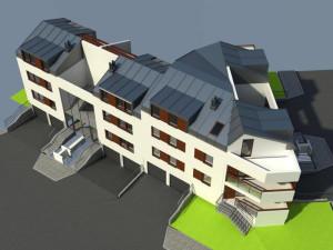 Tak będzie wyglądało całe założenie Apartamentów na Skarpowej.